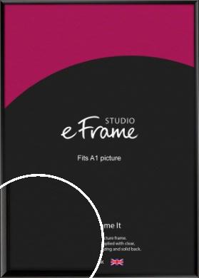 Narrow Sleek Painted Black Picture Frame, A1 (594x841mm) (VRMP-377-A1)