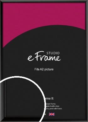 Narrow Sleek Painted Black Picture Frame, A2 (420x594mm) (VRMP-377-A2)