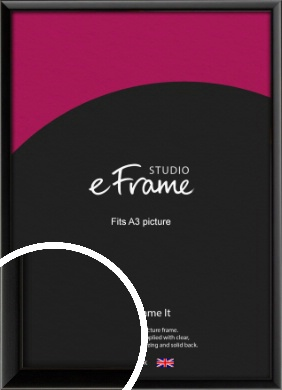 Narrow Sleek Painted Black Picture Frame, A3 (297x420mm) (VRMP-377-A3)