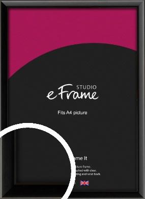 Narrow Sleek Painted Black Picture Frame, A4 (210x297mm) (VRMP-377-A4)