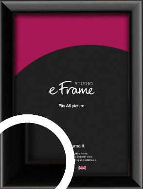 Narrow Sleek Painted Black Picture Frame, A6 (105x148mm) (VRMP-377-A6)