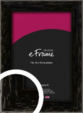 Classic Grain Black Picture Frame, 10x15cm (4x6
