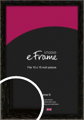 Classic Grain Black Picture Frame, 10x15