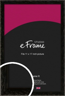 Classic Grain Black Picture Frame, 11x17