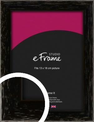 Classic Grain Black Picture Frame, 13x18cm (5x7