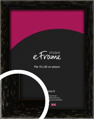 Classic Grain Black Picture Frame, 15x20cm (6x8