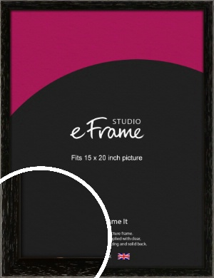 Classic Grain Black Picture Frame, 15x20