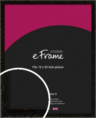 Classic Grain Black Picture Frame, 16x20