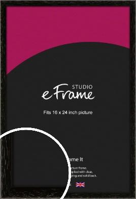 Classic Grain Black Picture Frame, 16x24