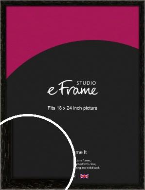 Classic Grain Black Picture Frame, 18x24