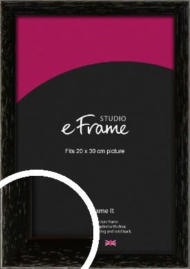 Classic Grain Black Picture Frame, 20x30cm (8x12
