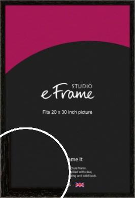 Classic Grain Black Picture Frame, 20x30