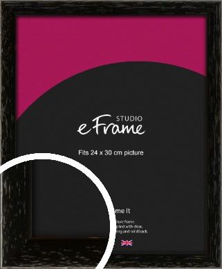 Classic Grain Black Picture Frame, 24x30cm (VRMP-379-24x30cm)