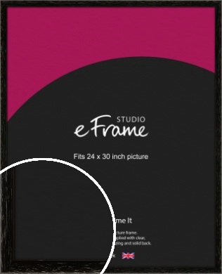 Classic Grain Black Picture Frame, 24x30
