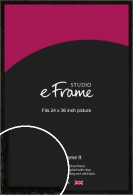 Classic Grain Black Picture Frame, 24x36