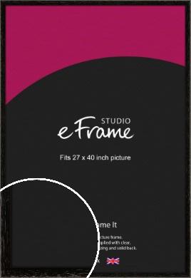 Classic Grain Black Picture Frame, 27x40