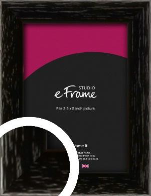 Classic Grain Black Picture Frame, 3.5x5