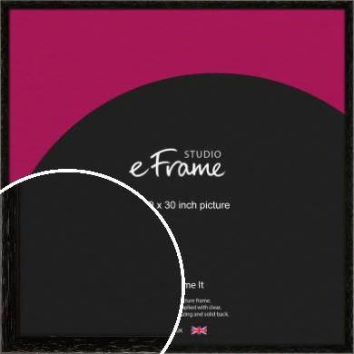 Classic Grain Black Picture Frame, 30x30