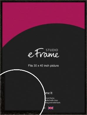 Classic Grain Black Picture Frame, 30x40