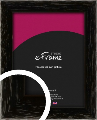 Classic Grain Black Picture Frame, 4.5x6