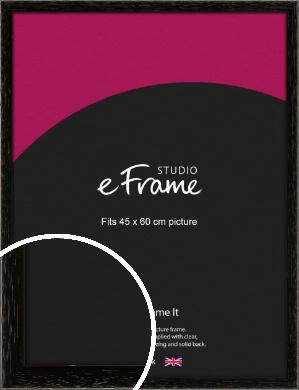 Classic Grain Black Picture Frame, 45x60cm (VRMP-379-45x60cm)