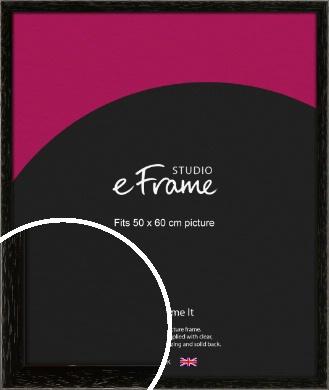Classic Grain Black Picture Frame, 50x60cm (VRMP-379-50x60cm)