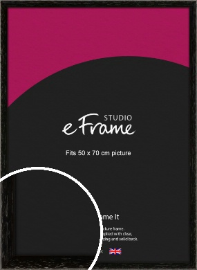 Classic Grain Black Picture Frame, 50x70cm (VRMP-379-50x70cm)