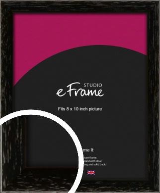 Classic Grain Black Picture Frame, 8x10
