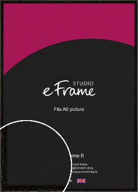 Classic Grain Black Picture Frame, A0 (841x1189mm) (VRMP-379-A0)