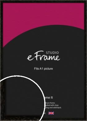 Classic Grain Black Picture Frame, A1 (594x841mm) (VRMP-379-A1)