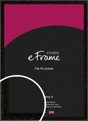 Classic Grain Black Picture Frame, A2 (420x594mm) (VRMP-379-A2)