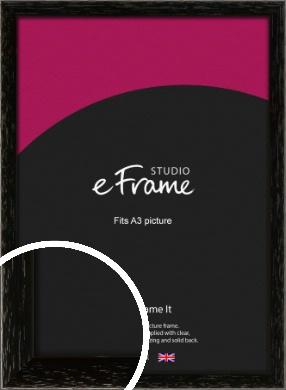Classic Grain Black Picture Frame, A3 (297x420mm) (VRMP-379-A3)