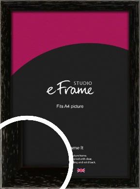 Classic Grain Black Picture Frame, A4 (210x297mm) (VRMP-379-A4)