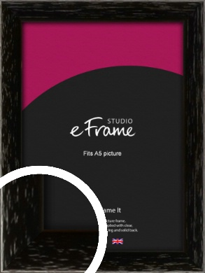 Classic Grain Black Picture Frame, A5 (148x210mm) (VRMP-379-A5)