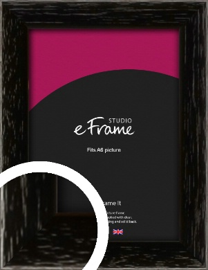 Classic Grain Black Picture Frame, A6 (105x148mm) (VRMP-379-A6)