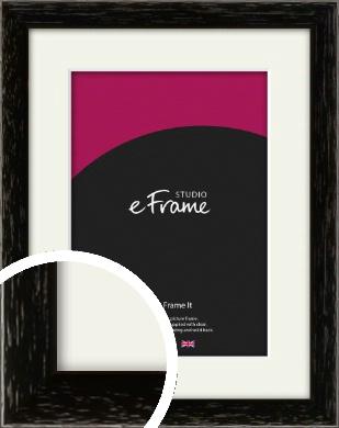 Classic Grain Black Picture Frame & Mount (VRMP-379-M)