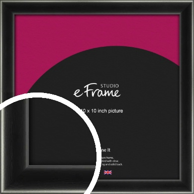 Contemporary Smooth Black Picture Frame, 10x10