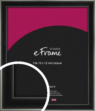 Contemporary Smooth Black Picture Frame, 10x12