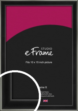 Contemporary Smooth Black Picture Frame, 10x15