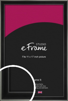 Contemporary Smooth Black Picture Frame, 11x17