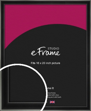 Contemporary Smooth Black Picture Frame, 16x20