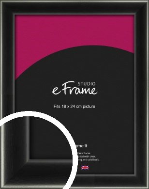 Contemporary Smooth Black Picture Frame, 18x24cm (VRMP-195-18x24cm)