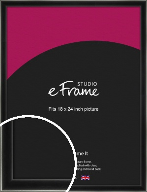Contemporary Smooth Black Picture Frame, 18x24