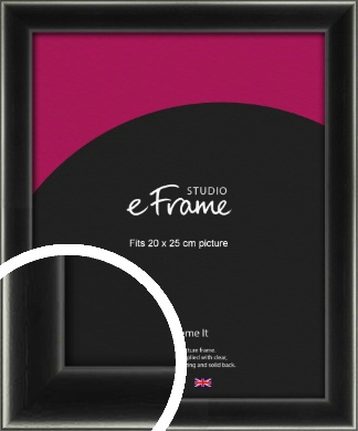 Contemporary Smooth Black Picture Frame, 20x25cm (8x10