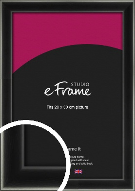 Contemporary Smooth Black Picture Frame, 20x30cm (8x12