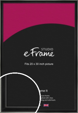 Contemporary Smooth Black Picture Frame, 20x30