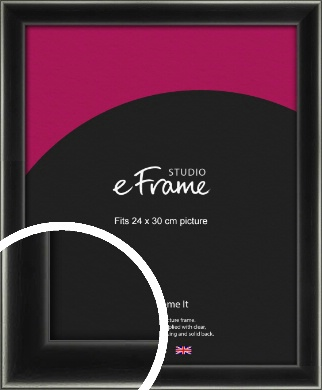 Contemporary Smooth Black Picture Frame, 24x30cm (VRMP-195-24x30cm)
