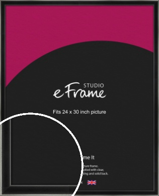 Contemporary Smooth Black Picture Frame, 24x30