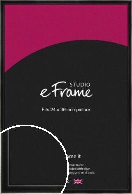 Contemporary Smooth Black Picture Frame, 24x36