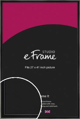 Contemporary Smooth Black Picture Frame, 27x41